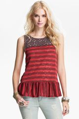 Free People Molly S Retro Peplum Top - Lyst