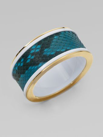 Kara By Kara Ross Python Resin Bangle Braceletwide - Lyst