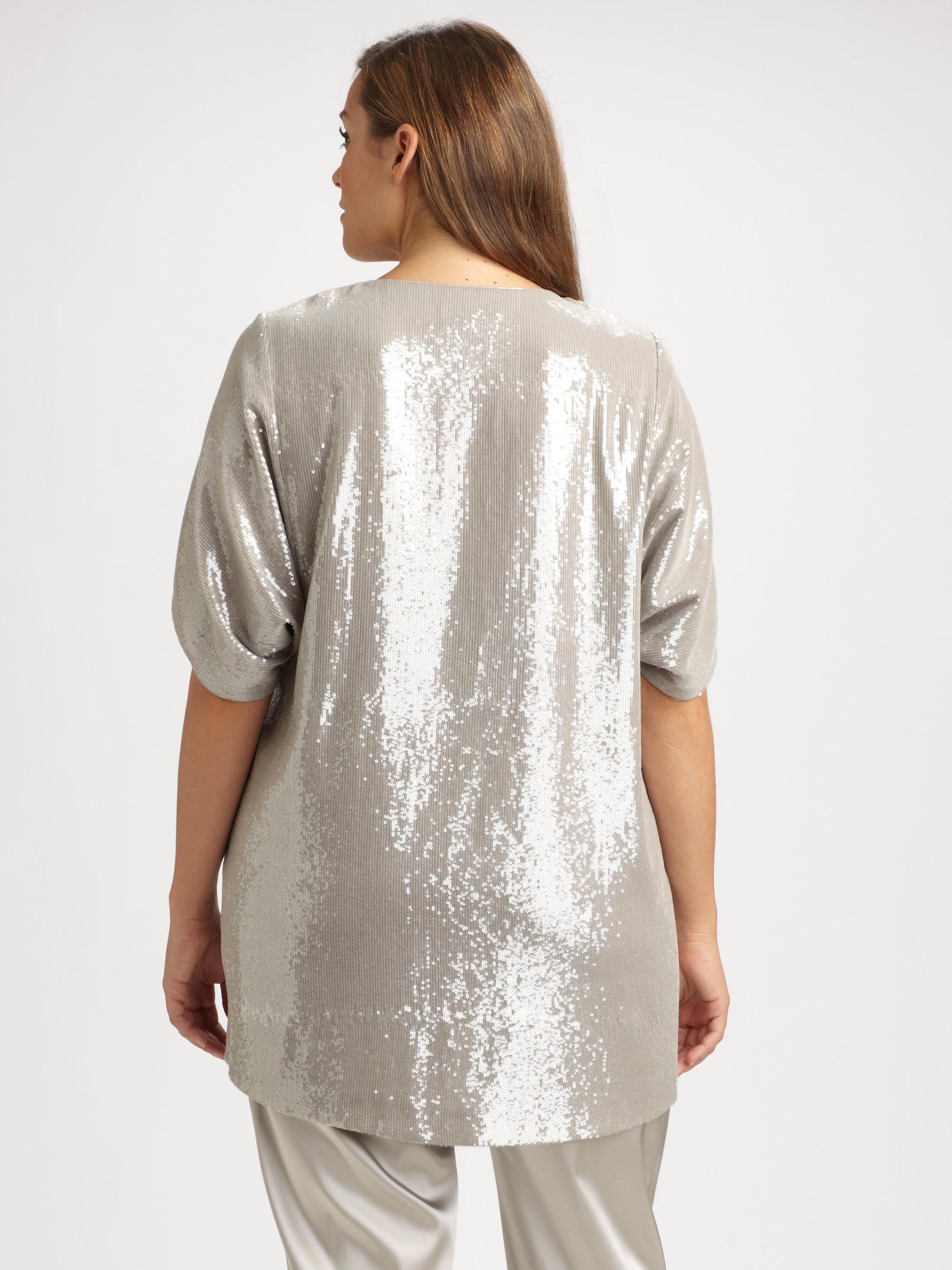 148 Best Images About Fingernail Art On Pinterest: Lafayette 148 New York Sequin Shanaya Top In Silver