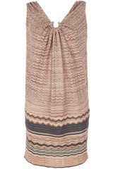 M Missoni Contrast Zigzag Print Dress - Lyst