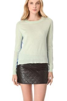 Mason by Michelle Mason Two Tone Cashmere Silk Sweater - Lyst