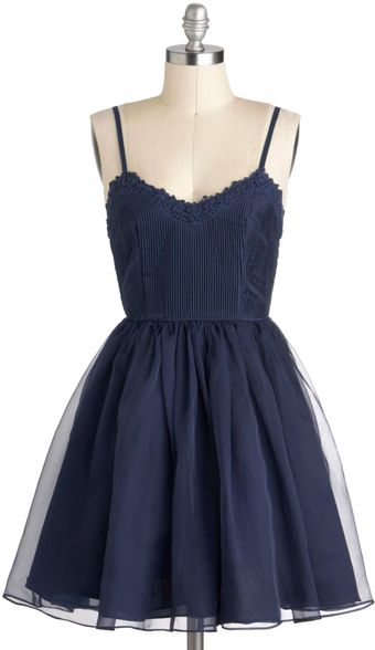 ModCloth Navy Too Late Dress - Lyst