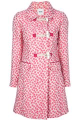 Moschino Cheap & Chic Floral Print Coat - Lyst