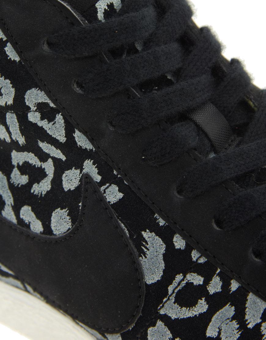 pretty nice c9f65 47455 Lyst - Nike Blazer Mid Black Leopard Print Trainers in Black