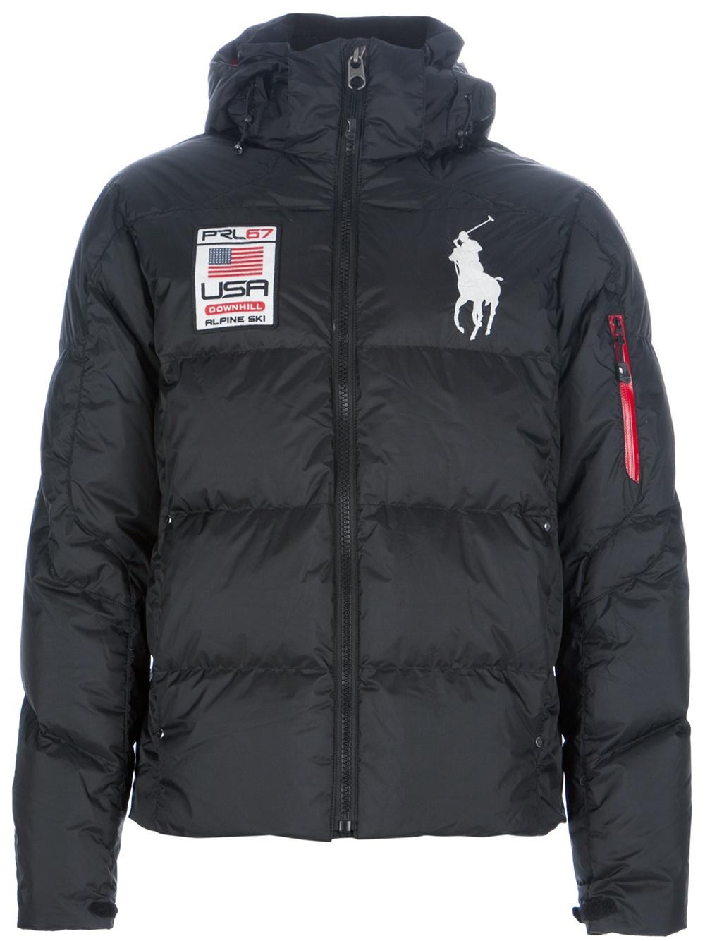 Polo Ralph Lauren Hooded Padded Jacket In Black For Men Lyst