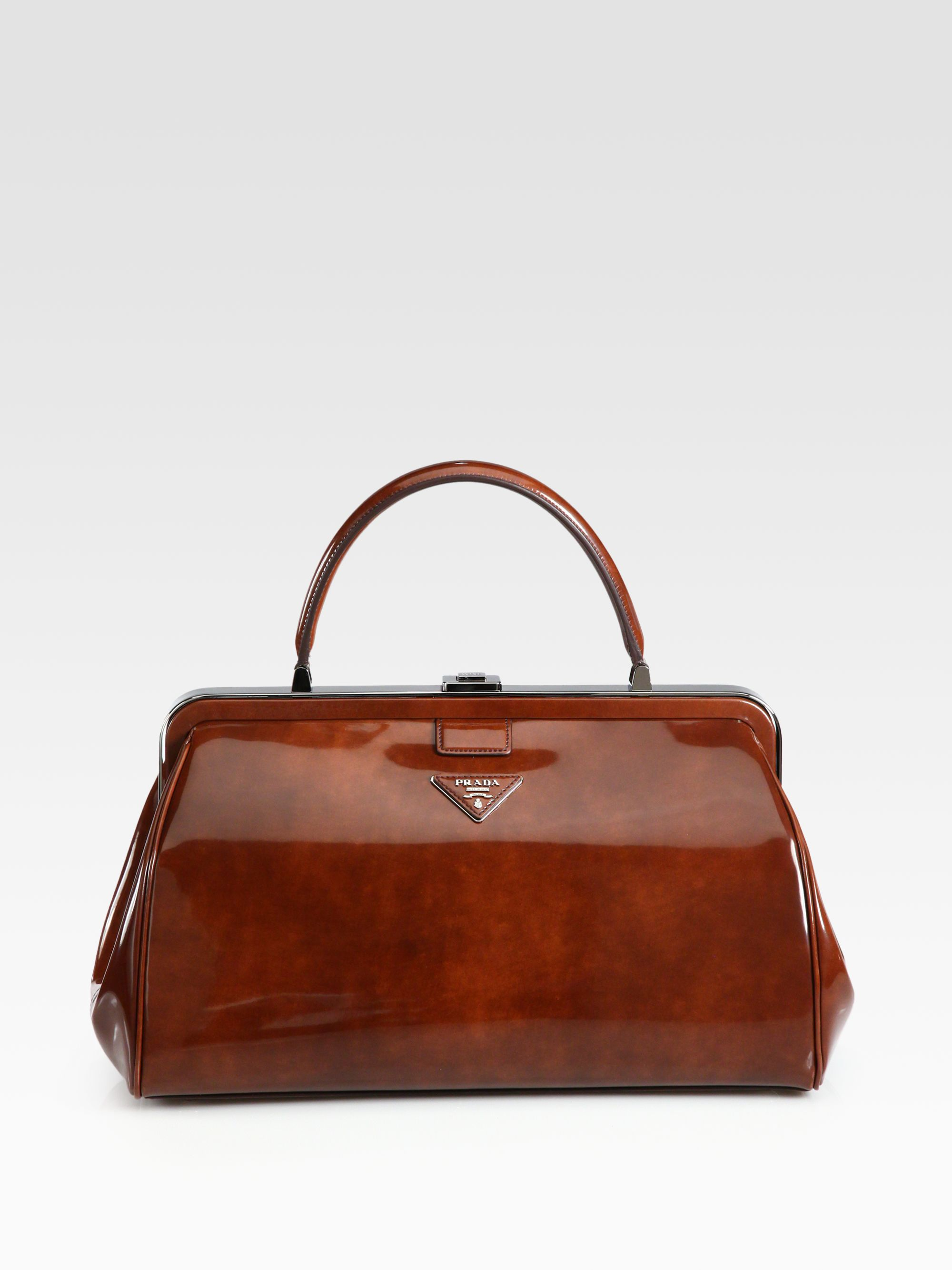 prada shoes quality - Prada Spazzolato Frame Bag in Brown (tobacco) | Lyst