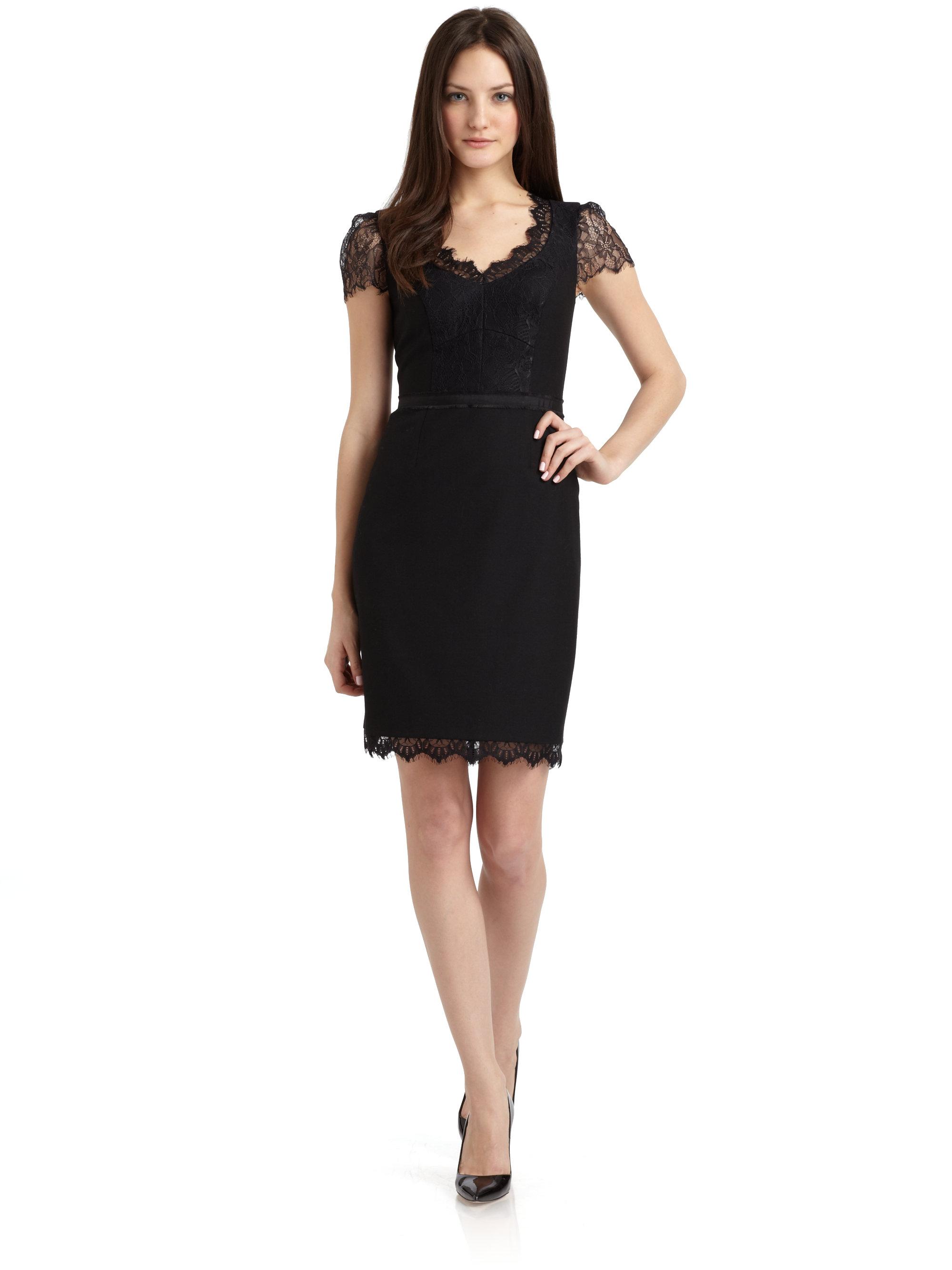 Black Dress with Cap Sleeves