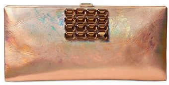 Roger Vivier Night Iridescent Leather Clutch - Lyst