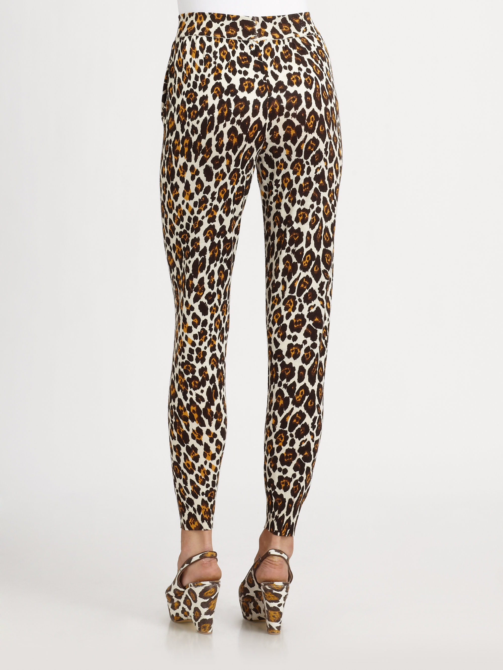 Lyst Stella Mccartney Leopard Print Jogging Pants In Brown
