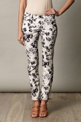 Weekend By Maxmara Floral Skinny Jeans in White (floral) - Lyst