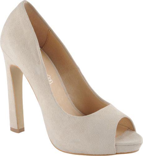 Aldo Peep Toe Heels in White (bone)
