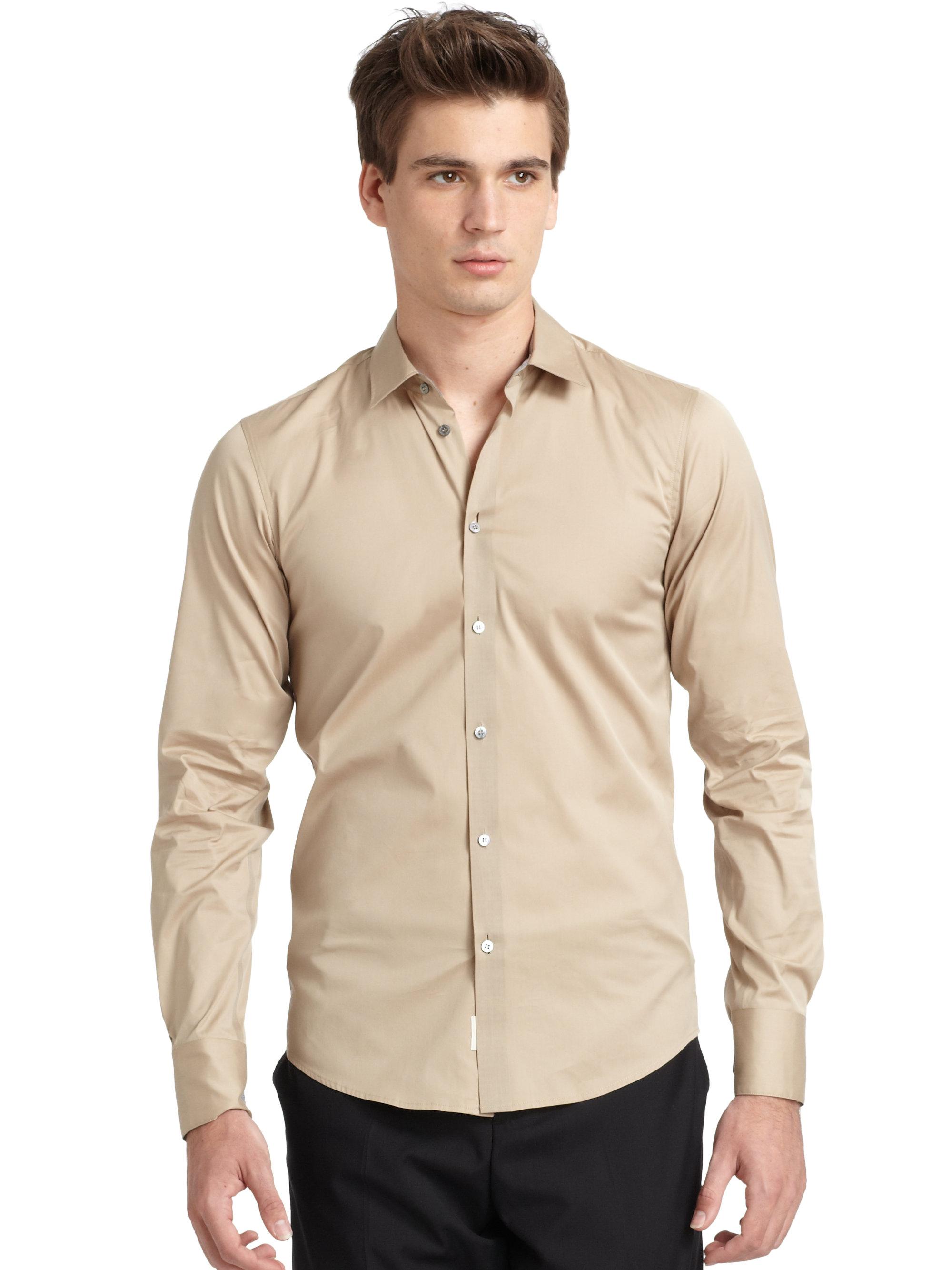 Tan Button Down Shirt | Artee Shirt