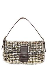 Fendi Baguette Shiny Sequins Shoulder Bag - Lyst
