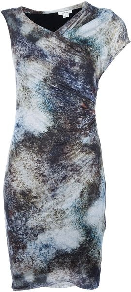 Helmut Lang Print Fitted Dress - Lyst