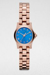 Marc By Marc Jacobs  Round Rose Gold  Finished Stainless Steel Bracelet Watch - Lyst