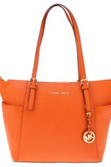 Michael by Michael Kors Leather Shopper Tote - Lyst