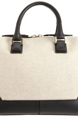 Narciso Rodriguez Mixed Material Medium Bowler Tote - Lyst