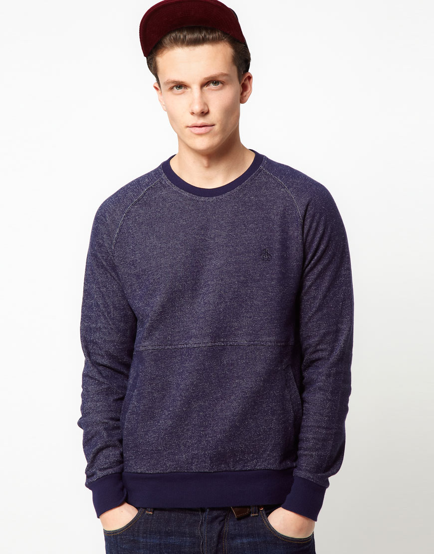 Original penguin Sweatshirt with Kangaroo Pocket in Blue for Men ...