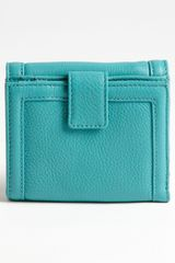 Tory Burch Amanda Double Flap French Wallet in Blue (turquoise) - Lyst