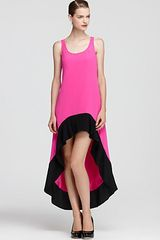 Jay Godfrey Color Block Dress Mulino Hi Low - Lyst