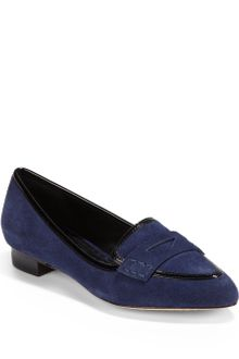 Alice + Olivia Madison Suede Leather Loafers - Lyst