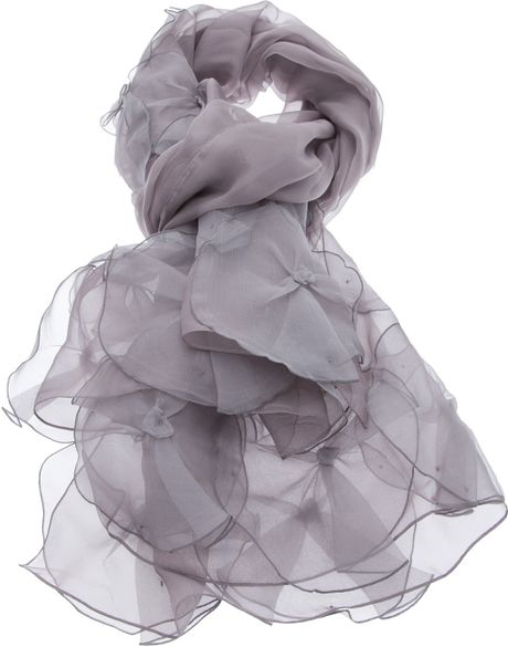 Armani Silk Scarf in Gray taupe  Lyst Armani Men's Silk Scarves