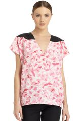 Costume National Floral Silk Blouse - Lyst