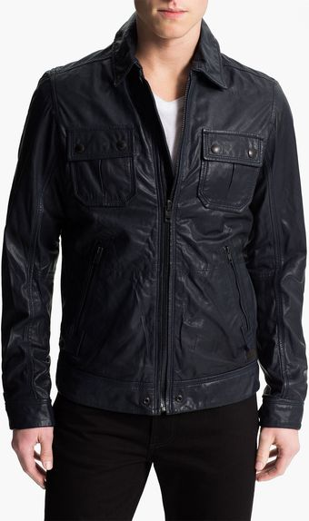 Diesel Lordid Leather Jacket - Lyst