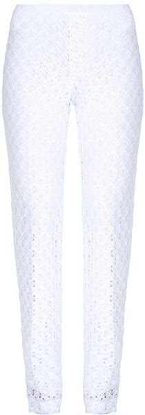 Missoni Plain Pants in White (red) - Lyst