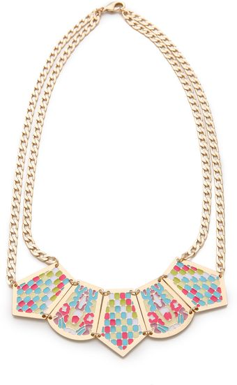 Noir Jewelry Short Pastel Hacienda Necklace - Lyst