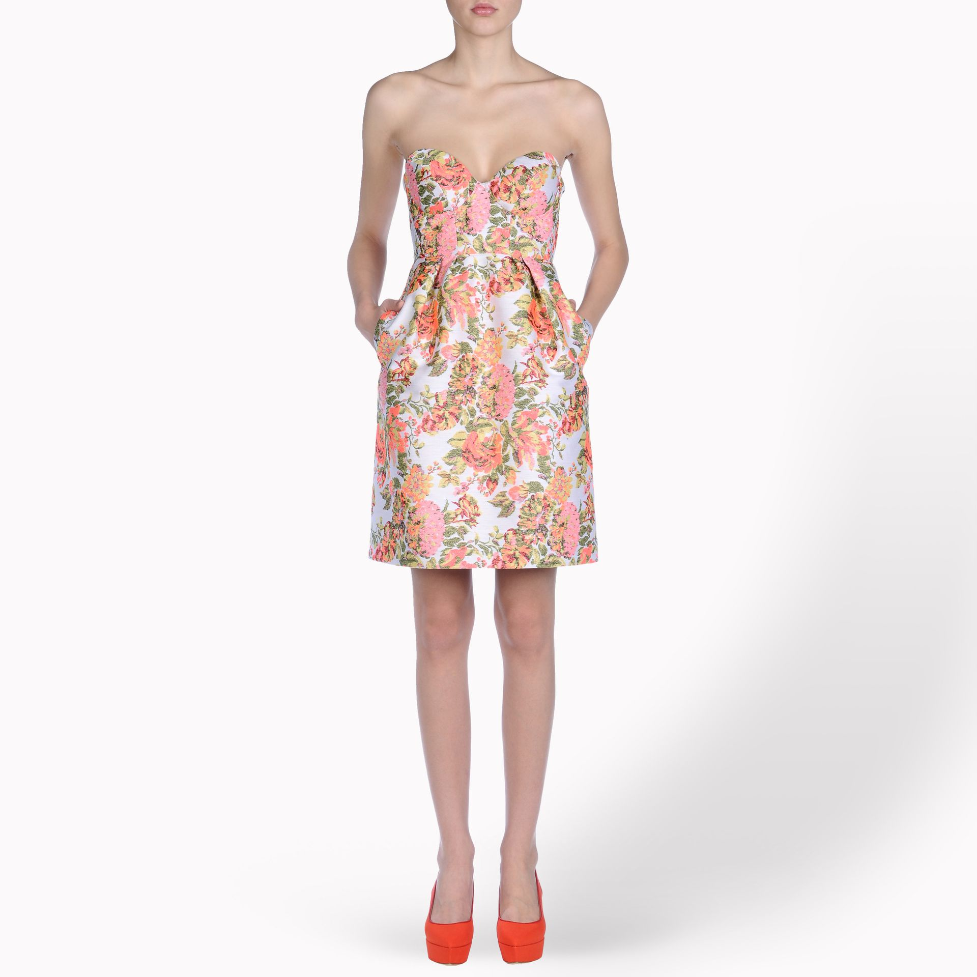 Stella Mccartney Fletcher Flower Jacquard Dress In