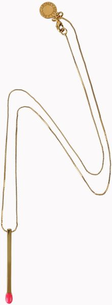 Stella McCartney Matchstick Necklace - Lyst