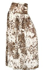 Blumarine Printed Silk Chiffon Long Skirt - Lyst
