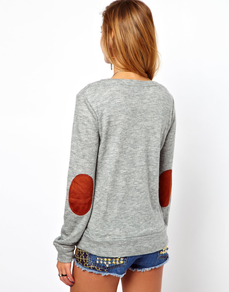 Womens Elbow Patch Sweaters