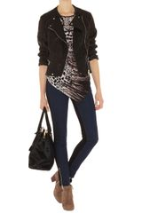 Karen Millen Animal Print T-Shirt - Lyst