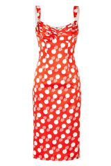 L'Wren Scott Redcream Printed Silk Dress