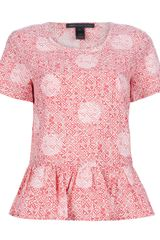 Marc By Marc Jacobs Peplum Top - Lyst