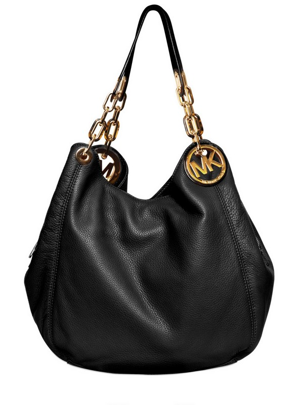 2b2cd674a0 MICHAEL Michael Kors Fulton with Logo Soft Leather Bag in Black - Lyst