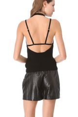 Alexander Wang Back Strap Sweater Tank - Lyst