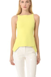 Alexander Wang Double Face Peplum Top - Lyst