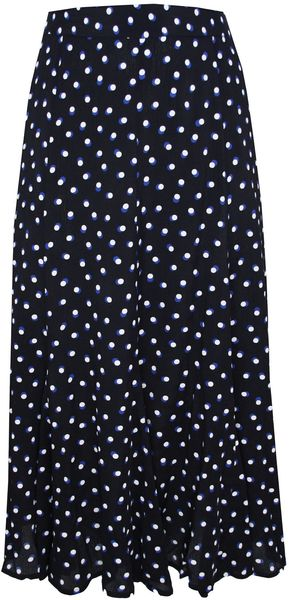 Ann Harvey Black Moss Crepe Spot Skirt - Lyst