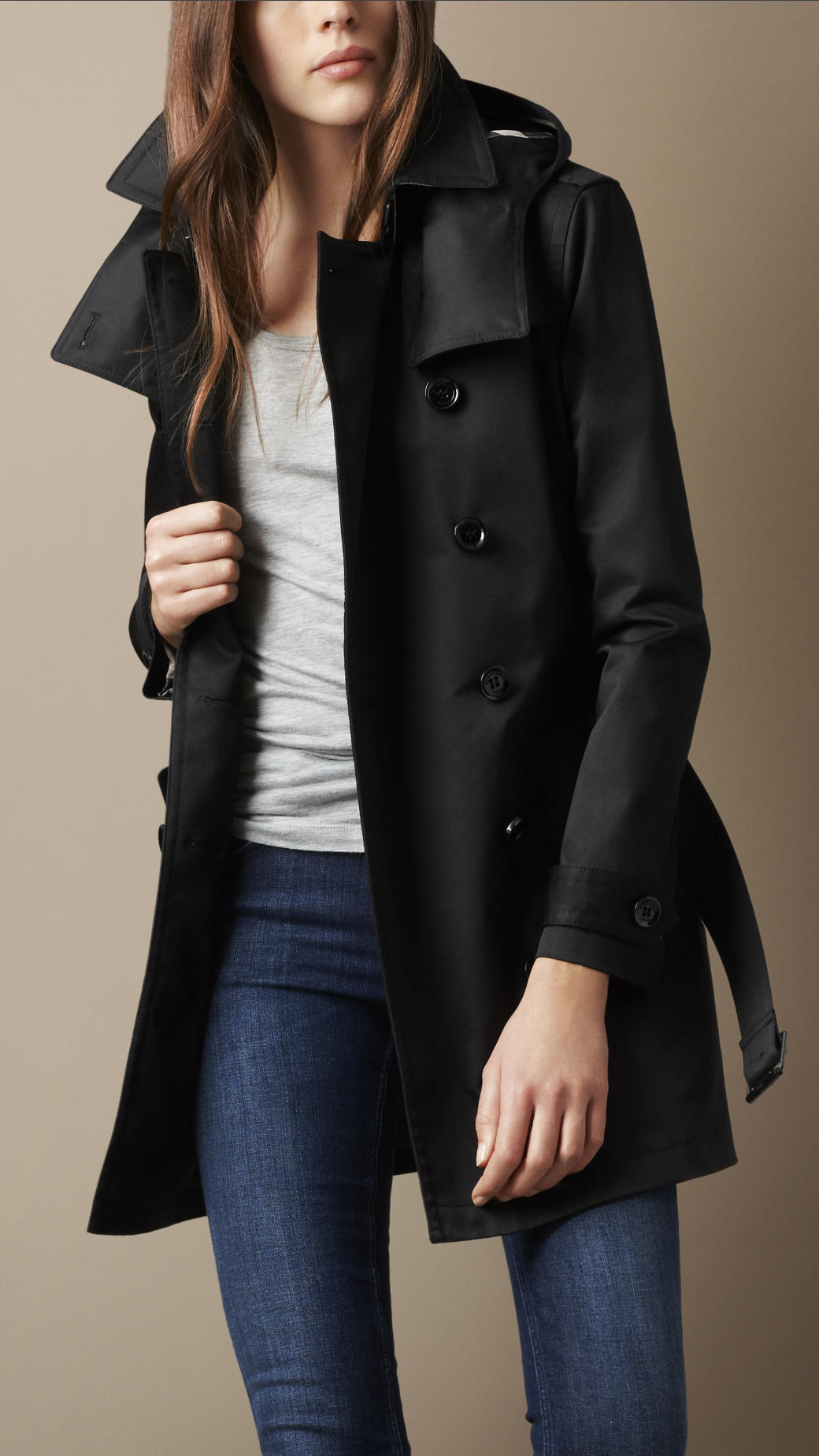 Burberry brit Short Technical Cotton Twill Warmer Trench Coat in ...