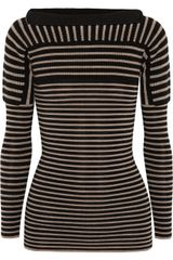 Burberry Prorsum Contrast Knit Striped Wool Sweater - Lyst