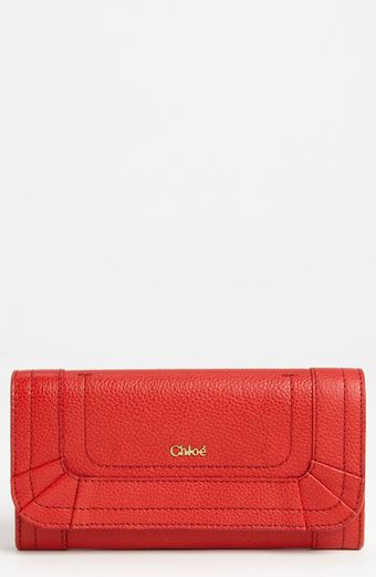 Chloé Paraty Leather Wallet - Lyst