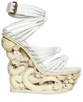 Emilio Pucci Dragon Resin and Calfskin Wedges - Lyst