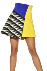 Fausto Puglisi Color Block Silk Skirt - Lyst