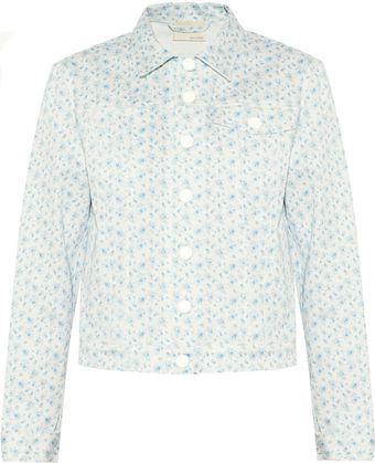 Band Of Outsiders Floralprint Denim Jacket - Lyst
