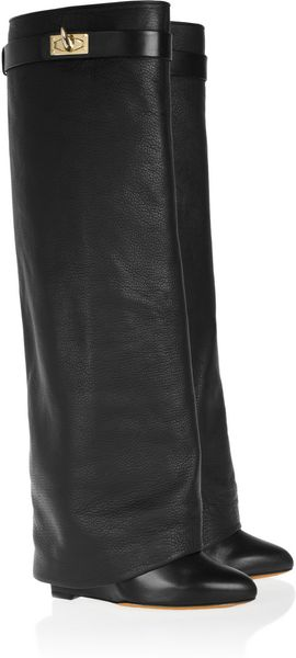 Givenchy Leather Wedge Knee Boots - Lyst