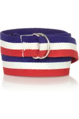 Isabel Marant Cadwell Striped Canvas Belt - Lyst