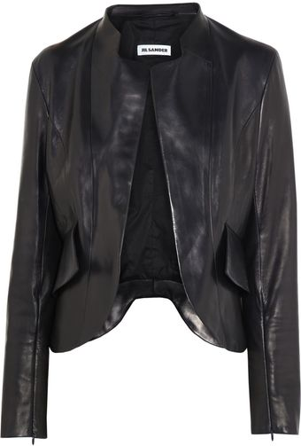 Jil Sander Nostradamus Peplum Back Leather Jacket - Lyst